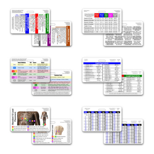 Mini CNA / MA / Tech Set Horizontal Badge Cards - 6 cards