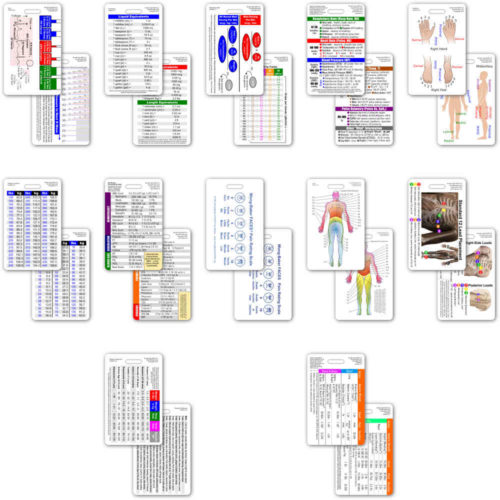 Complete Set for Nurse CNA NA Vertical Badge Cards - 13 cards