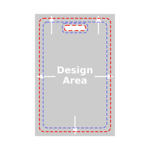 Upload Your Design - Vertical Badge Card - Full Card w/ Bleed Design Area