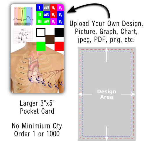 "Upload Your Design - Large 3"" x 5"" Pocket Card"
