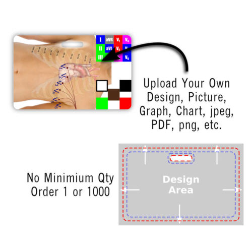 Upload Your Design - Horizontal Badge Card - Full Card w/ Bleed Design Area