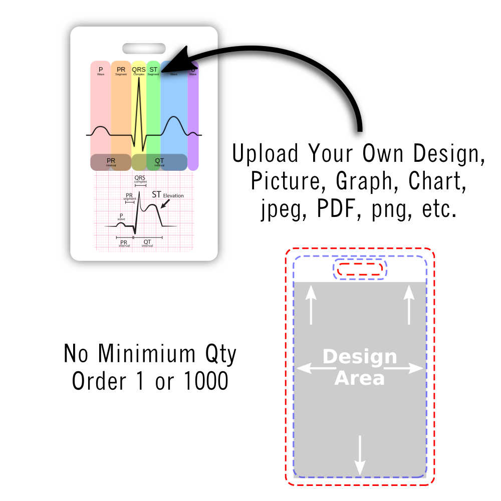 upload your design vertical badge card safe zone design area
