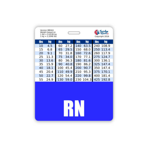 RN Horizontal Oversized Blue Badge Buddy